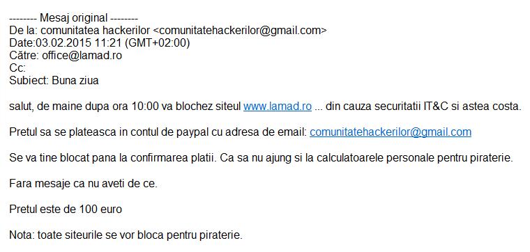 inselaciune comunitatea hackerilor comunitatehackerilor@gmail.com