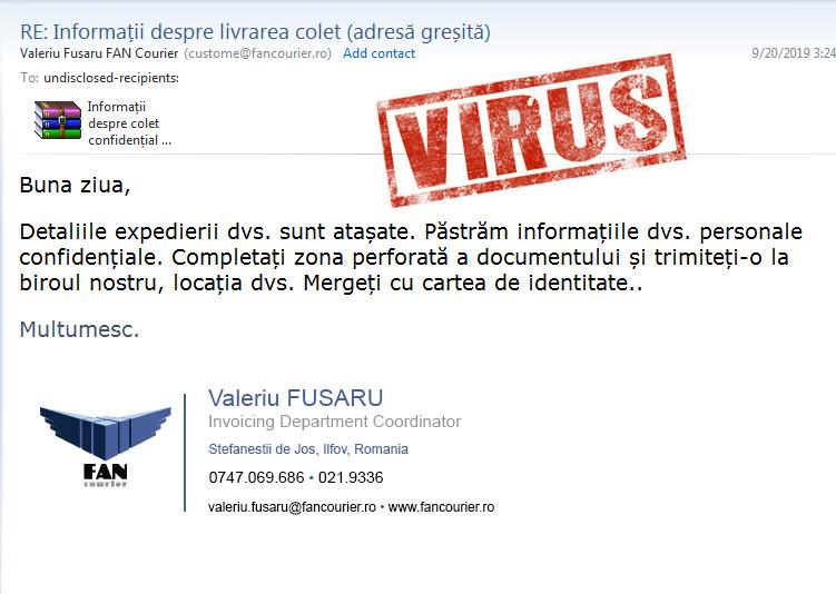 malware virus email
